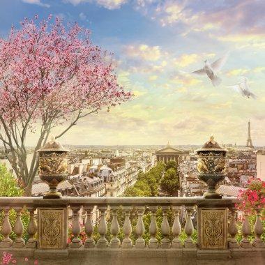 Panorama of Paris. France. stock vector