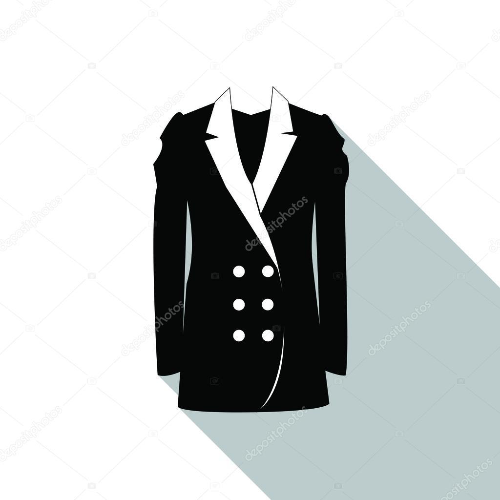 Veste classique noir pour femme