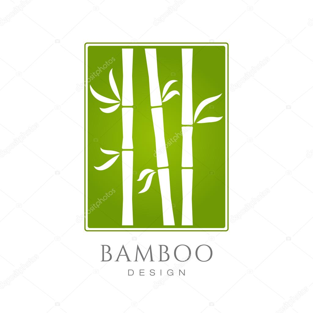 Bamboo icon, business sign template.