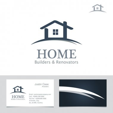 Real Estate Business sign & Business Card vector template.