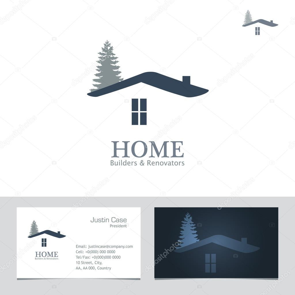 Real estate business sign business card vector template stock real estate business sign business card vector template for architecture bureau home insurance brokerage building renovation business home design reheart Images