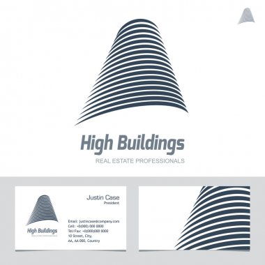 Real Estate Business sign & Business Card vector template