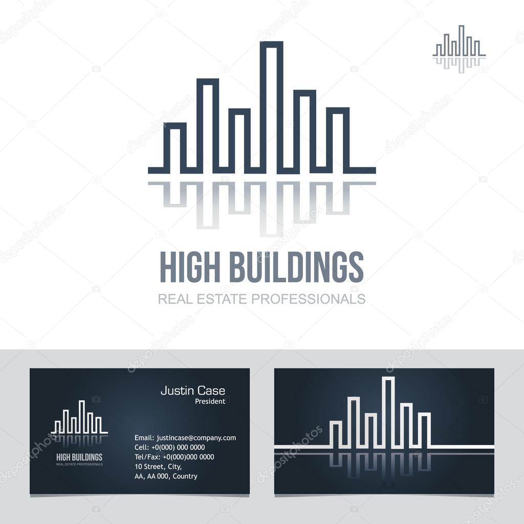 Immobilier Enseigne Modele Vecteur De Carte Visite Illustration Stock