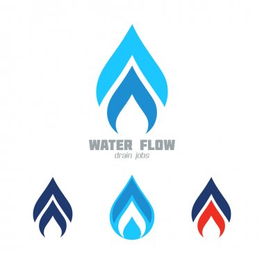 Water supply, Plumbing or Gas supply business sign set