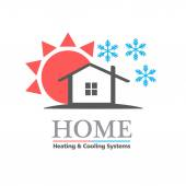 Heating  Cooling systems business icon template