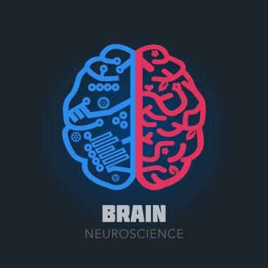 Brain sign design template for Neuroscience & Medicine.