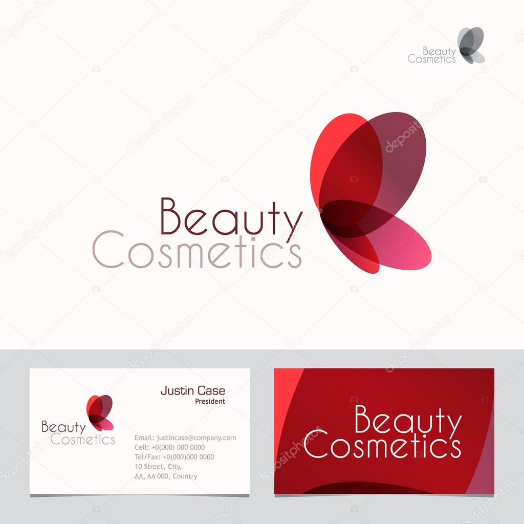 Red butterfly beauty sign and business card template stock vector red butterfly business vector icon business card template for beauty fashion industry beauty salon cosmetic labeling beauty boutique colourmoves
