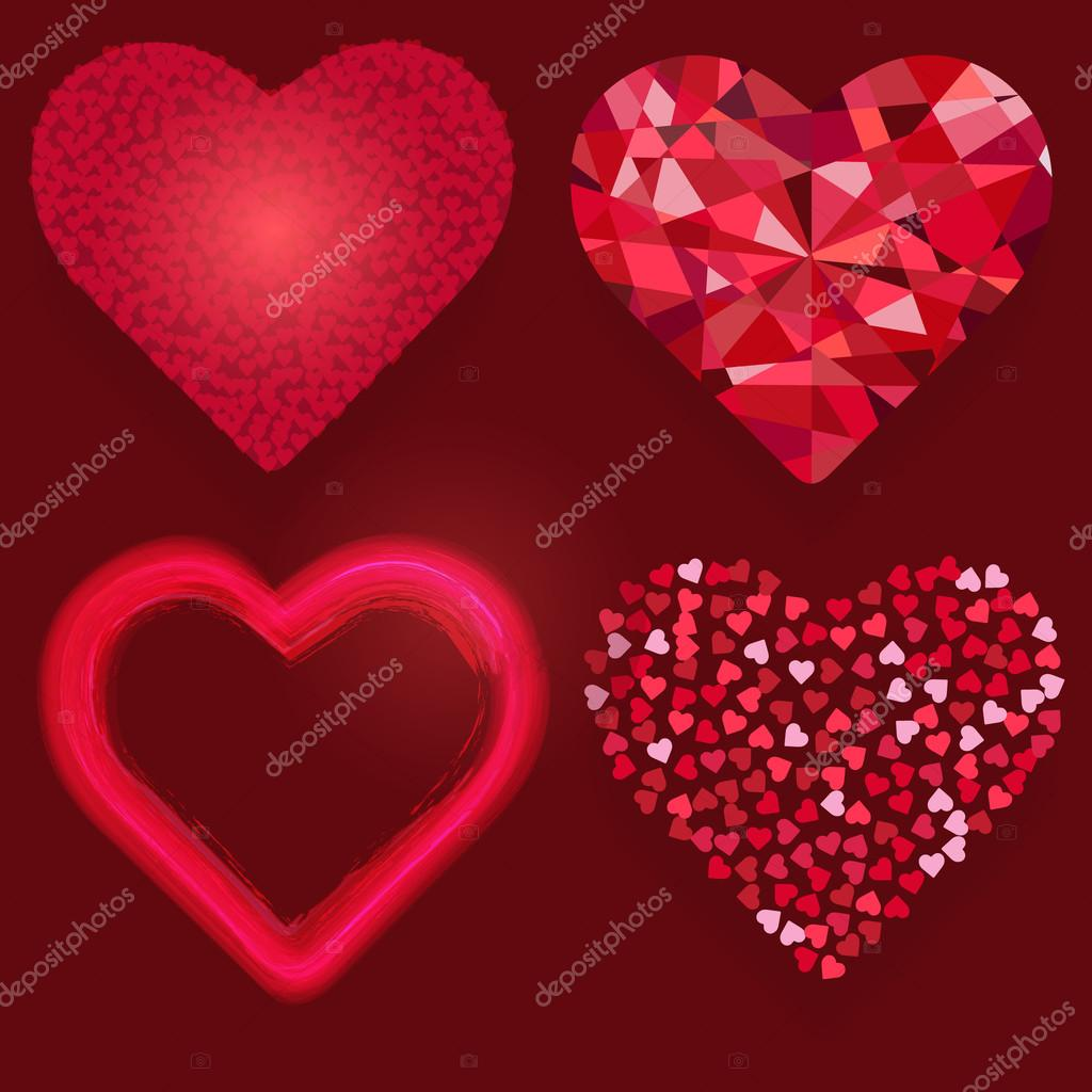 Valentines Day Greeting Card Stock Vector Enfantterrible 97136496