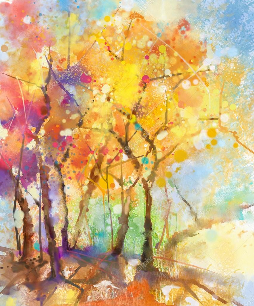 Pictures Nature Watercolor Painting Abstract Watercolor