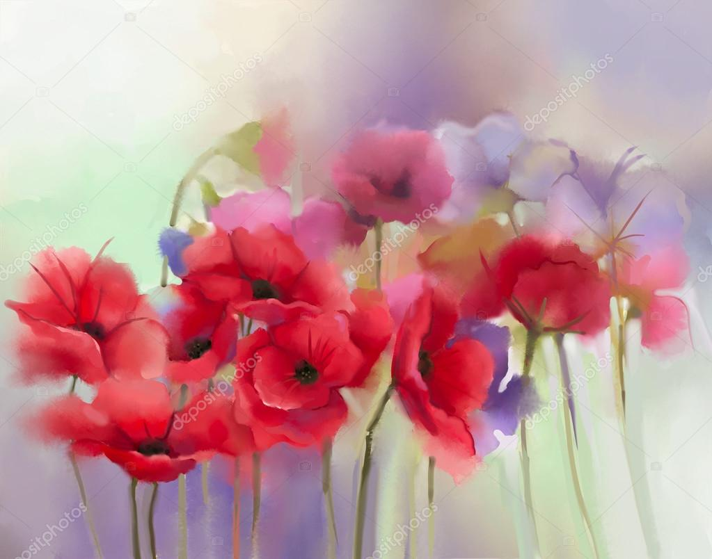 Watercolor Painting Ideas Flowers
