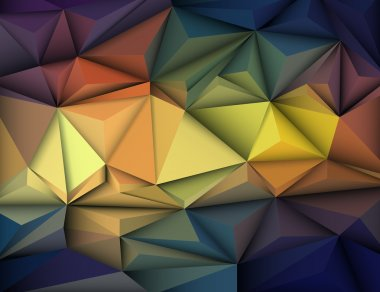 Vector illustration Abstract 3D Geometric, Polygonal, Triangle shape