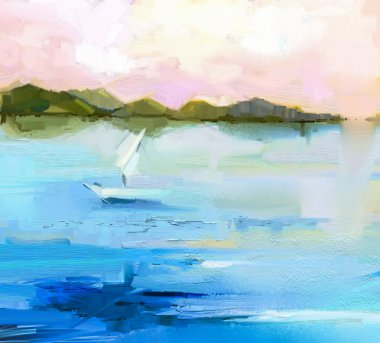 """Картина, постер, плакат, фотообои """"Абстрактный пейзаж красочные картины маслом на холсте"""", артикул 97918578"""
