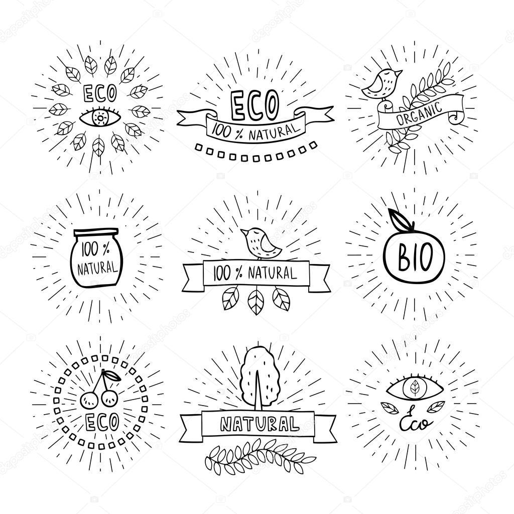 Modern hand drawn design organic