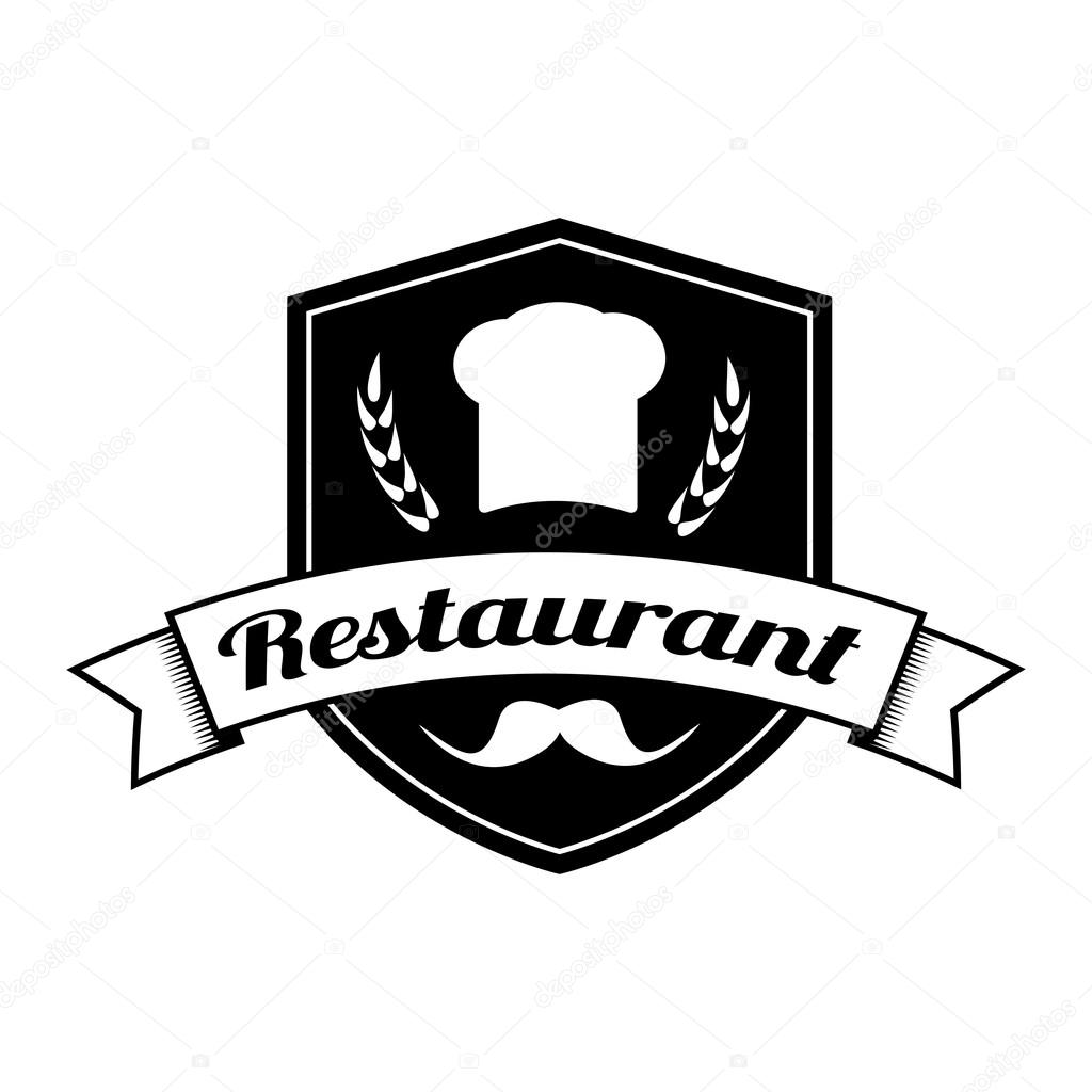 Restaurant logo design — stock vector jly