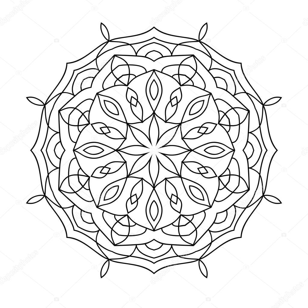 Mandala Boyama Kitabı Yetişkinler Için Stok Vektör Jly19 121980388