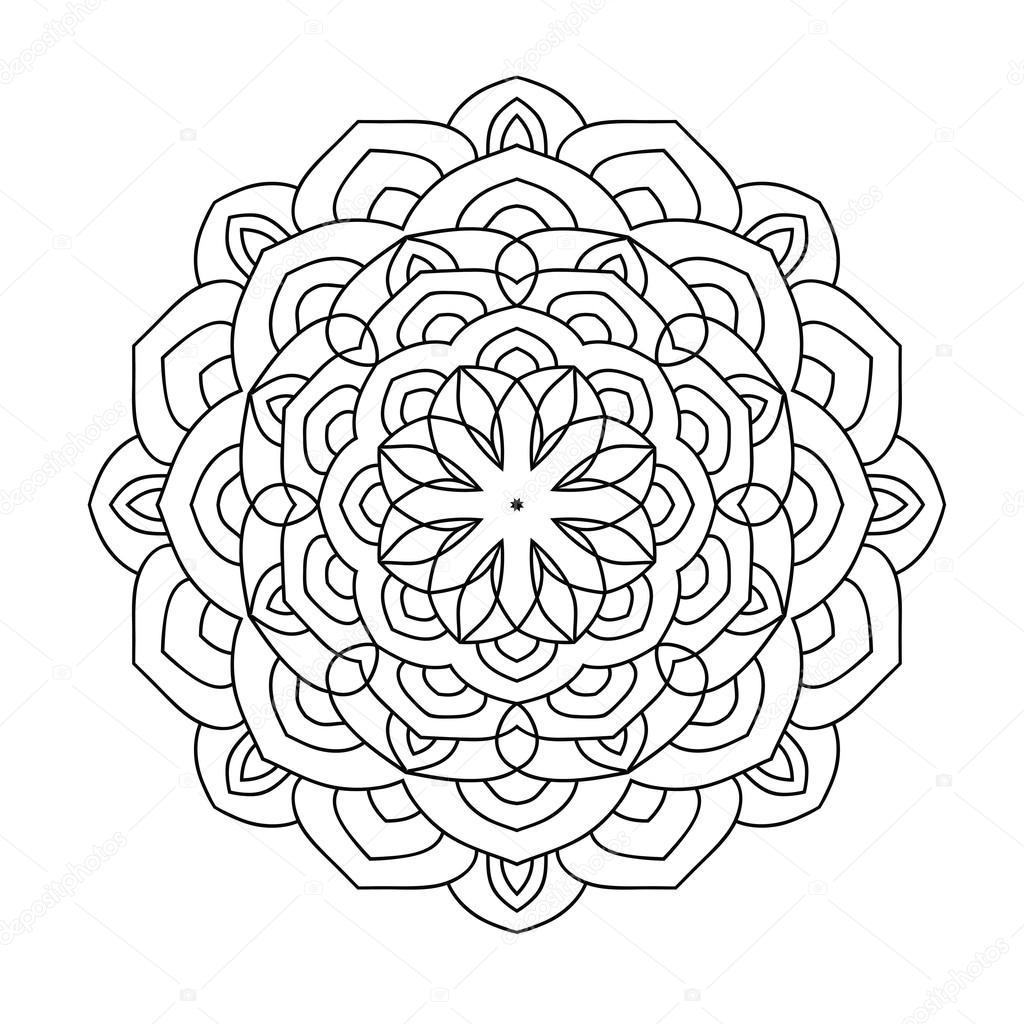 Mandala Boyama Kitabı Yetişkinler Için Stok Vektör Jly19 121980428