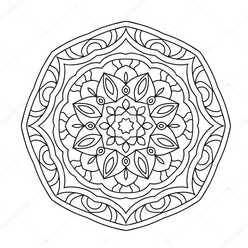 Livre De Coloriage Mandala Pour Adultes Image Vectorielle Jly19