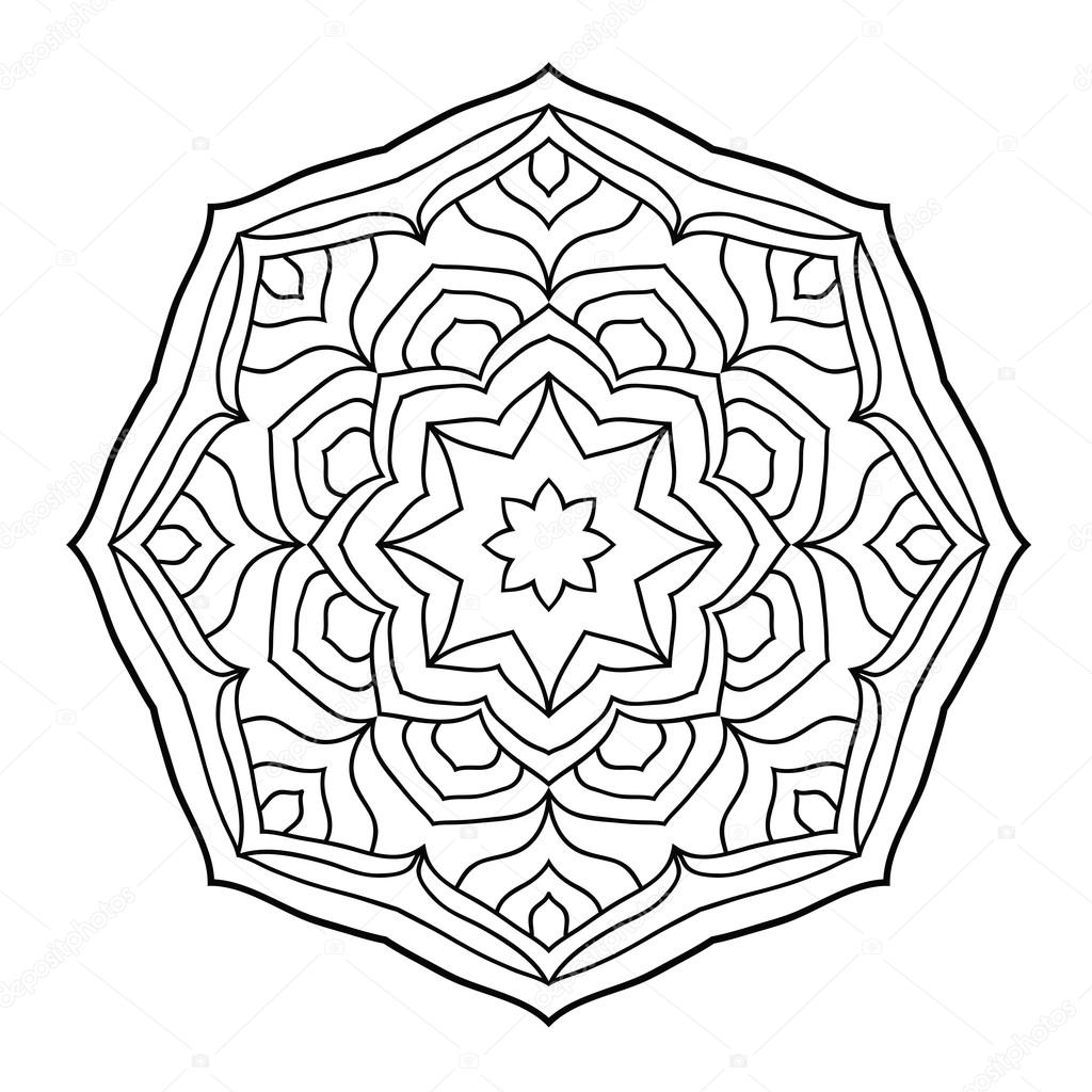 Mandala coloring book for adults — Stock Vector © Jly19 #121981398