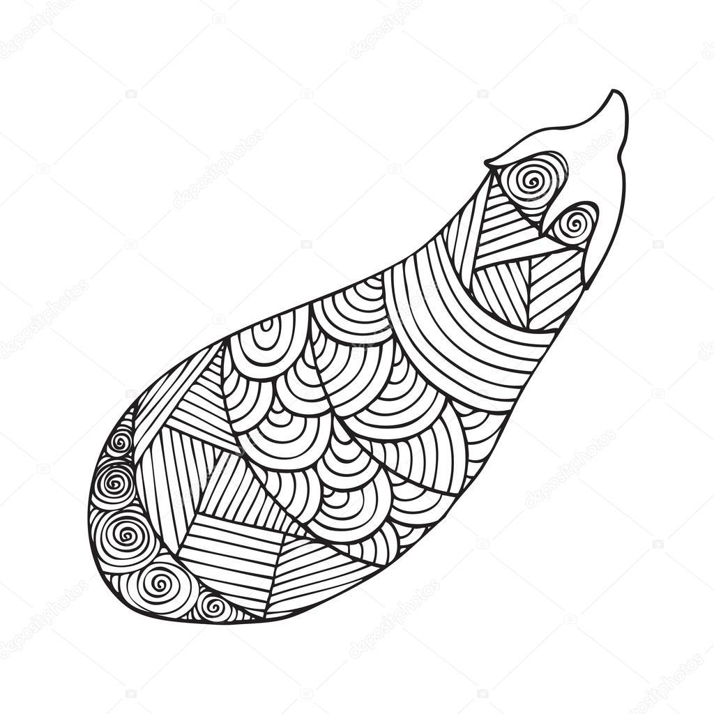 Boyama Kitabı Sayfa Tasarım Yetişkin Stok Vektör Jly19 121982084