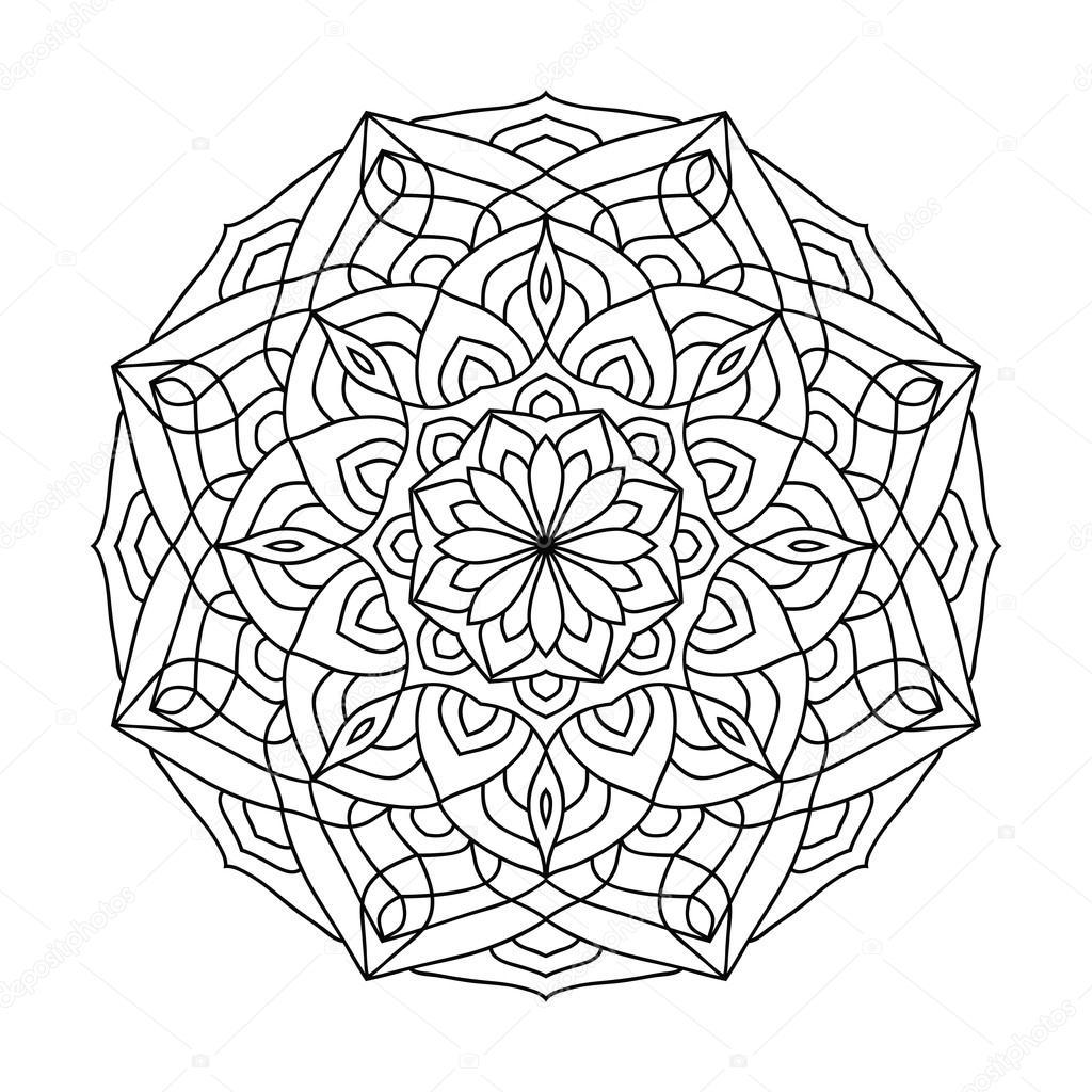Mandala Boyama Kitabı Yetişkinler Için Stok Vektör Jly19 121982460