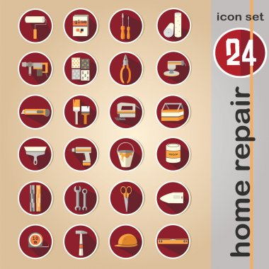 Web icon set - building, construction and home repair tools clip art vector