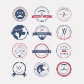 Fotografie Perfect set of barber and haircut logos