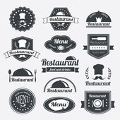 Photo Retro restaurant vintage Insignias or logotypes  set