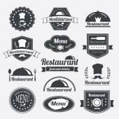 Vintage retro restaurace insignie nebo logotypy sada