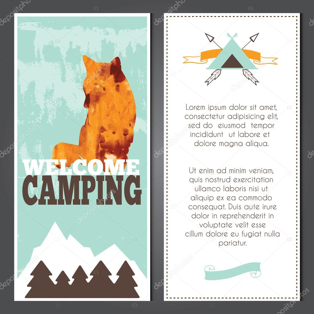 Vector camping invitations Stock Vector Jly19 73108817