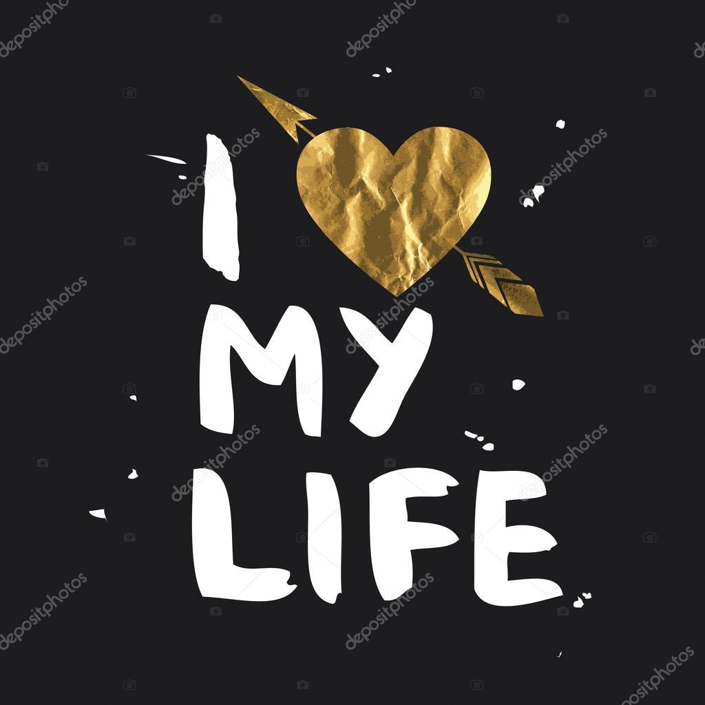 i love my life lettering design ストックベクター jly19 85790422