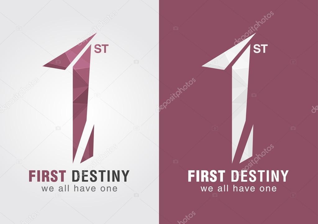 1 Erste Schicksal Ein Symbol Symbol Von Buchstaben Alphabet Nummer