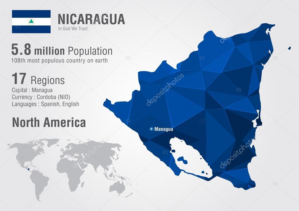 Nicaragua world map with a pixel diamond texture stock vector nicaragua world map with a pixel diamond texture stock vector gumiabroncs Gallery