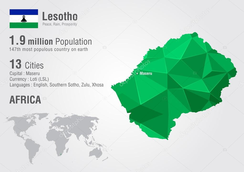 Lesotho world map with a pixel diamond texture stock vector lesotho world map with a pixel diamond texture stock vector freerunsca Image collections