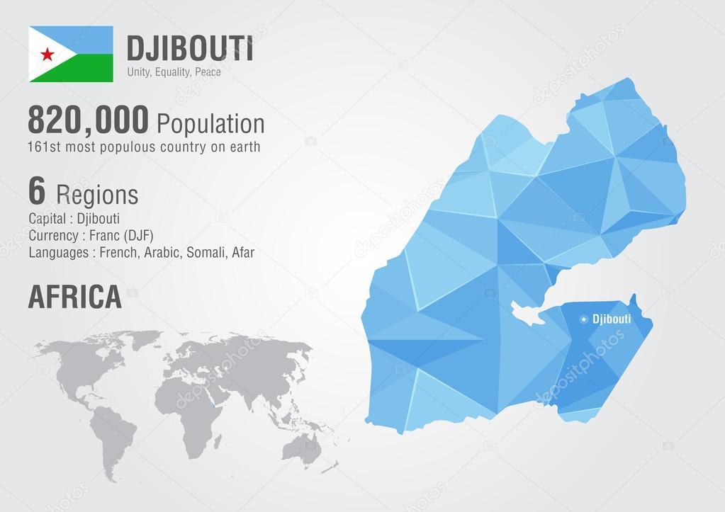 Mapa de mundial de djibouti con una textura de diamante de pixel djibouti world map with a pixel diamond texture world geography vector de kameonline gumiabroncs Image collections