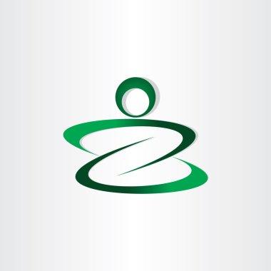 letter z man icon stylized design