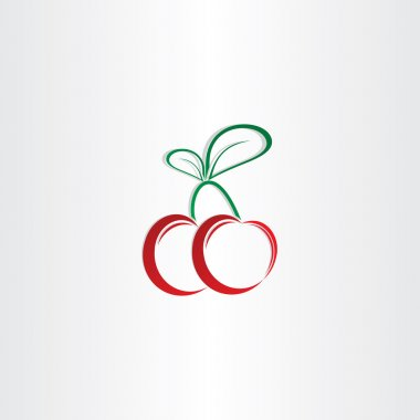 cherry symbol design element