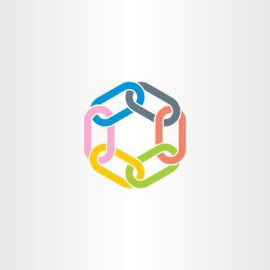 Chain link vector symbol design element color stock vector