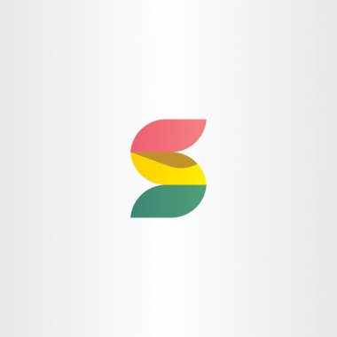 letter s logo red green and yellow ribbon