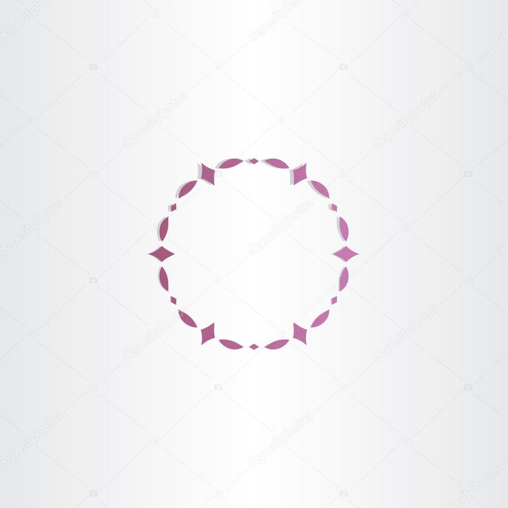 vector de diseño de marco de círculo púrpura — Vector de stock ...