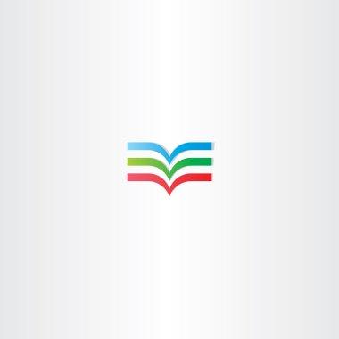 colorful book logo icon element