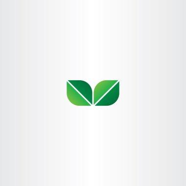 green eco leaf logo element