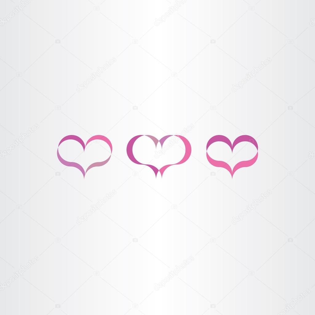 Purple heart icons set vector love symbol stock vector purple heart icons set vector love symbol stock vector buycottarizona