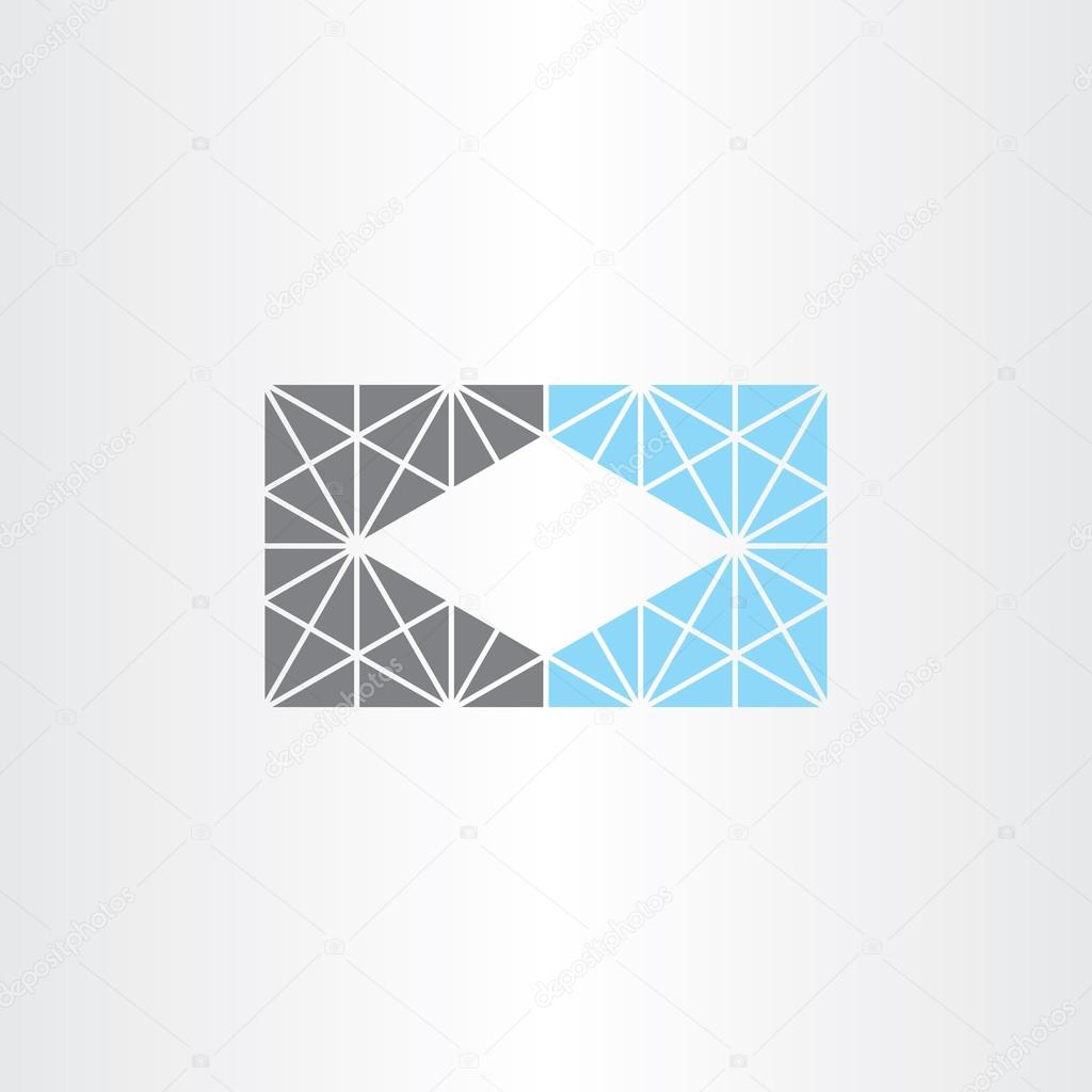 unusual geometric business card frame background — Stock Vector ...
