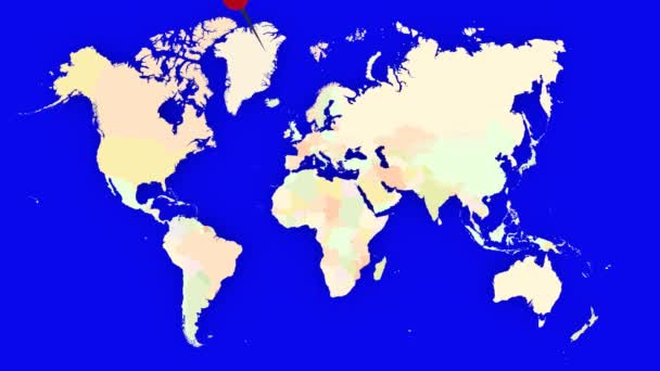 Worldmap Zooms to Austria