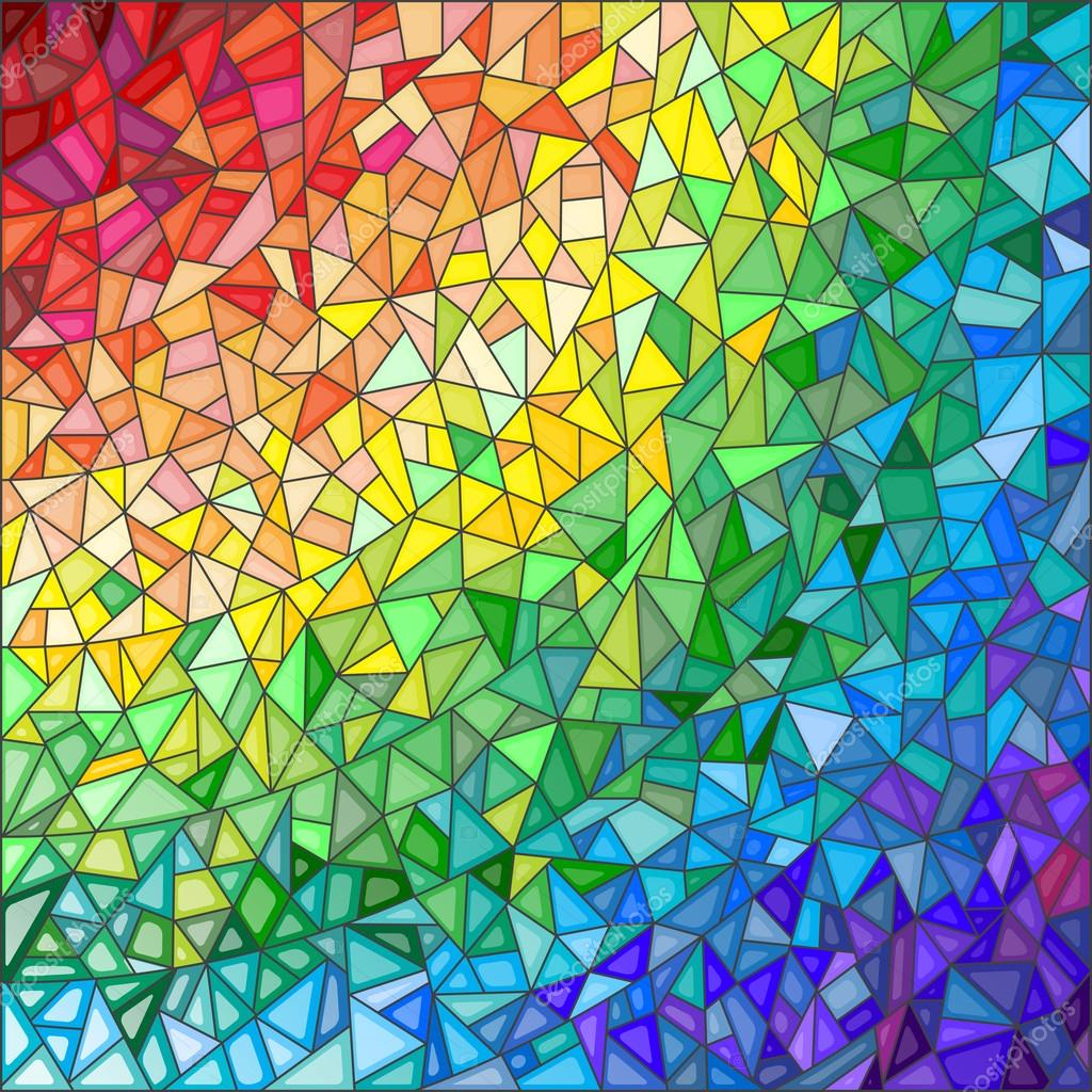 Abstract Stained Glass Background The Colored Elements