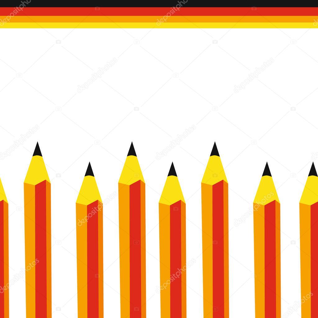 Bleistifte nahtlose Hintergrund. Architektur, Schule, Design ...