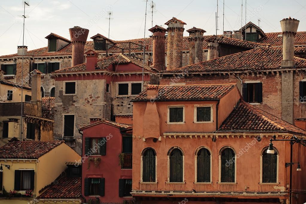 Beautiful scenery of venetian houses