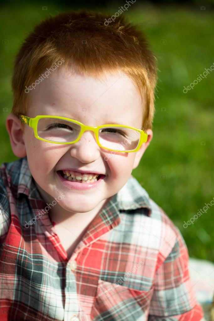 Cute Little Red Haired Boy Stock Photos Baby Pacifiers