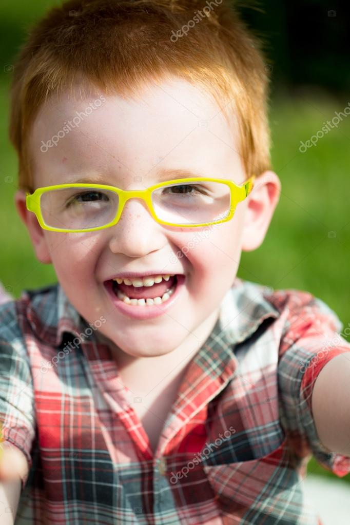 The Little Red Haired Boy Stock Photo