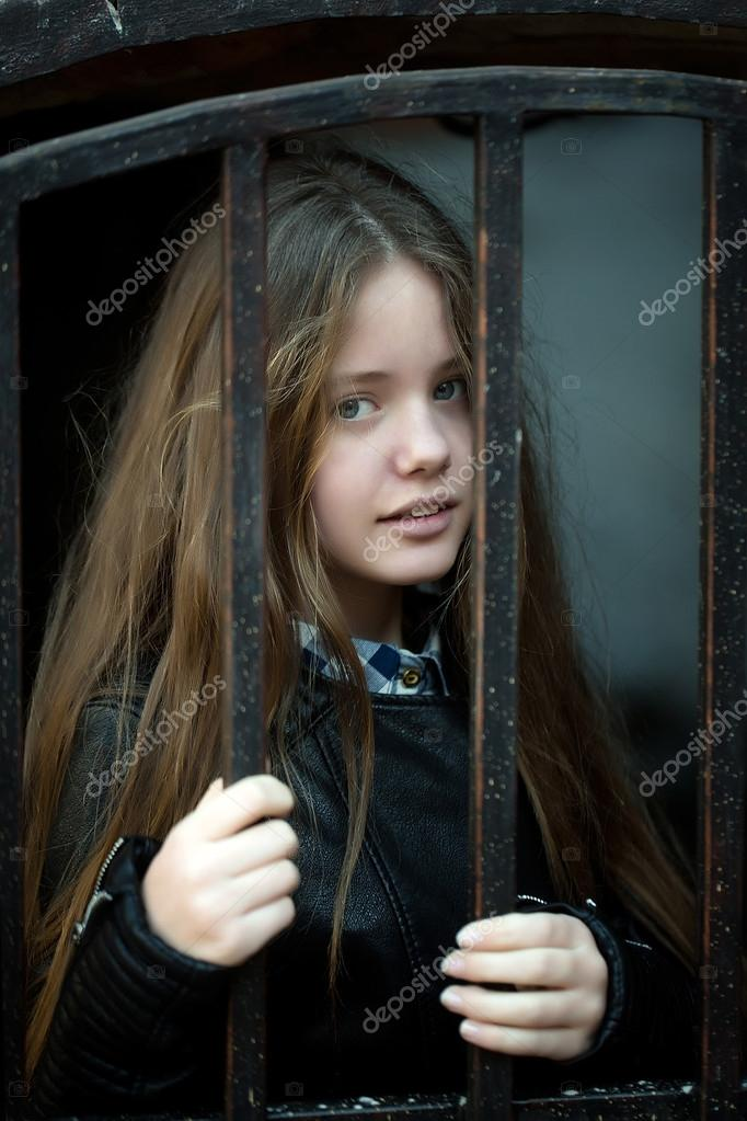 Matchless very young girl outdoor